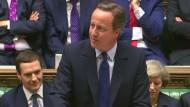 Letzter Auftritt von Premier Cameron
