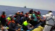 Marine rettet fast 3000 Flüchtlinge aus dem Mittelmeer