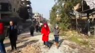 Zivilisten kehren nach Ost-Aleppo zurück
