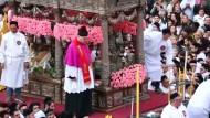 Festliche Zeremonie für St. Agatha von Catania