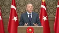 Erdogan: Kein Europäer wird auf den Straßen der Welt sicher sein