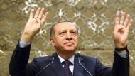 Alle Macht an den Präsidenten: Erdogan bei einer Rede am 22. März in Ankara.