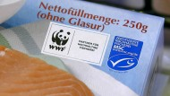 MSC-Siegel auf einer Fischverpackung