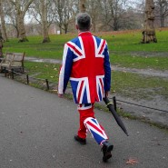 Goodbye Great Britain: Im Union-Jack-Anzug in London am Tag des Wahltriumphs von Boris Johnson.