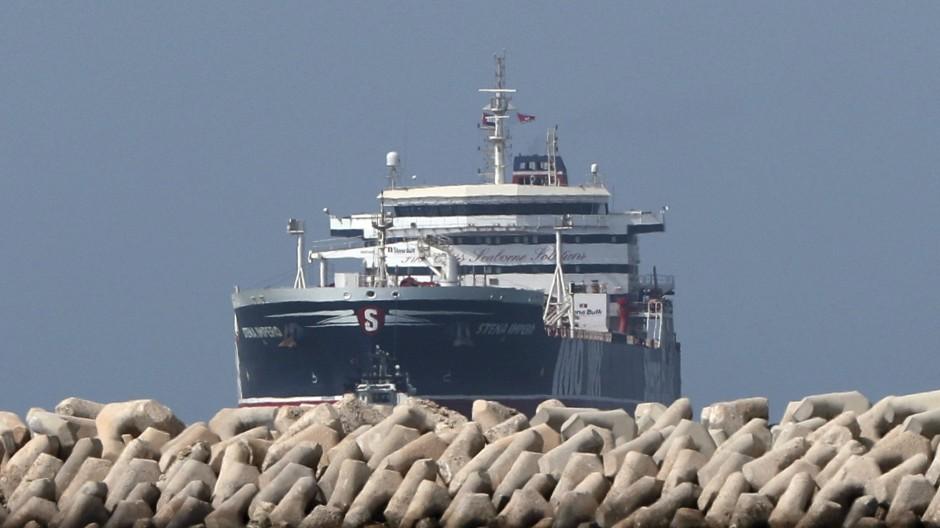 Verwundbar: Der britische Tanker Stena Impero vor dem Handelshafen von Dubai