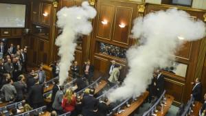 Wieder ein Tränengas-Angriff im Parlament