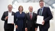 SPD und Grüne präsentieren Koalitionsvertrag