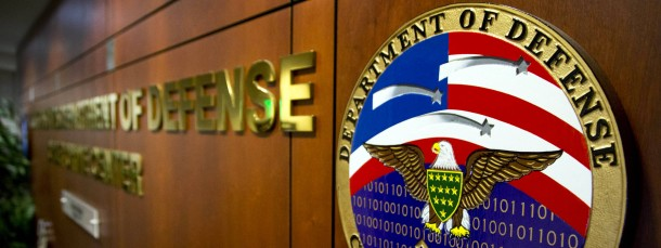 Unter Druck: Der Eingang des amerikanischen Cyber-Verteidigungszentrums in Linthicum, Maryland