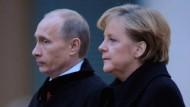 Merkel empfing heute den russischen Ministerpräsidenten Wladimir Putin