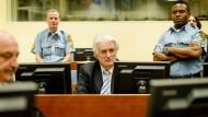 Als Kriegsverbrecher verurteilt: Radoslav Karadžić in Den Haag 2016