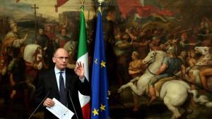 Ministerpräsident Letta tritt zurück