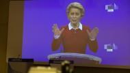Mahnende Worte: EU-Kommissionspräsidentin Ursula von der Leyen am Mittwoch in Brüssel