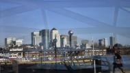 Der Londoner Finanzdistrikt Canary Wharf  wird sich nicht so bald leeren.