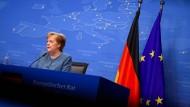 Bundeskanzlerin Merkel am 25. Mai bei einer Pressekonferenz in Brüssel