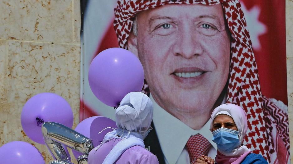 Allgegenwärtig im Jubiläumsjahr: Jordaniens König Abdullah