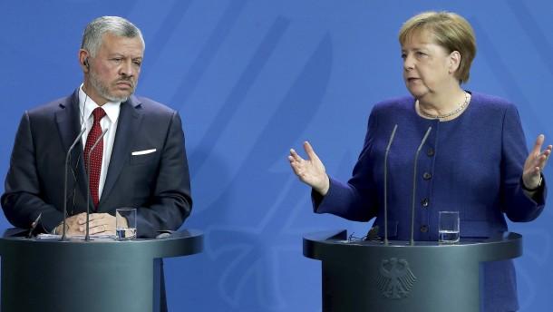 Merkel und Jordaniens König kritisieren Israels Annexionspläne