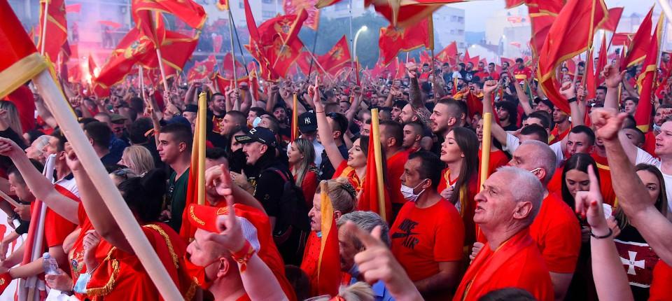Kundgebung in der montenegrinischen Hauptstadt Podgorica am Sonntag