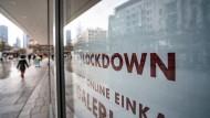 Stillstand auch in Frankfurt: Lockdown auf der Zeil