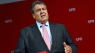 Sein Kalkül ging am Wahlabend auf: Der SPD-Vorsitzende Sigmar Gabriel im Willy-Brandt-Haus