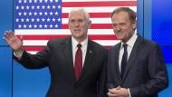 Pence: Trump will enge Partnerschaft mit der EU