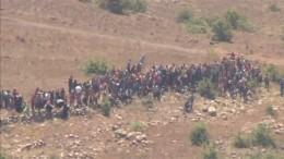 Syrische Flüchtlinge an israelischem Grenzzaun
