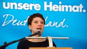 Petry warnt AfD-Mitglieder vor zu hohen Erwartungen