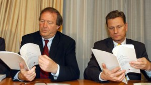 Möllemann erklärt Faltblattaktion
