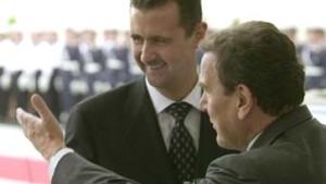 Schröder drängt Assad zu Friedensschritten in Nahost
