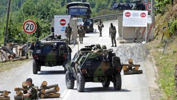 Prishtina pocht auf Einsatz eigener Kräfte