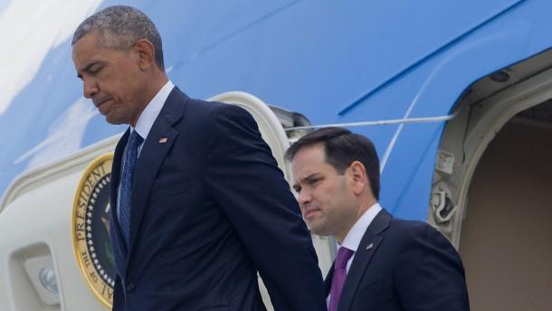 Obama besucht Überlebende der Terrorattacke