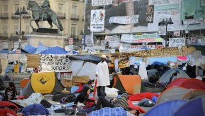 Das Protestcamp an der Puerta del Sol in Madrid