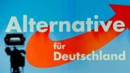 Ein Plakat der Alternative für Deutschland