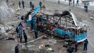 Die Bombe explodierte in diesem Bus der Linie 15