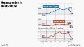 Infografik / Organspenden in Deutschland