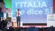 Kämpft um sein Reformwerk: Italiens Regierungschef Matteo Renzi am 19. November in Matera.