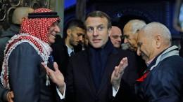 Macron gerät in Jerusalemer Altstadt mit Polizei aneinander