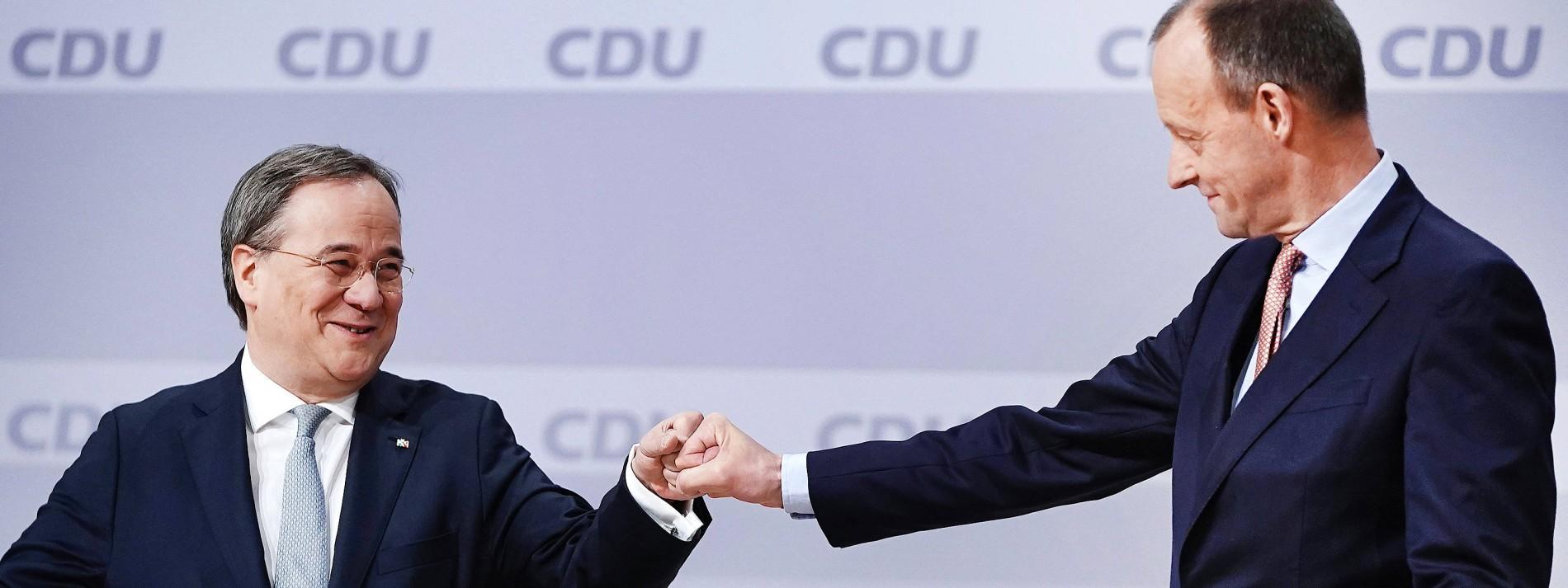 Merz wirbt nach Niederlage für CDU-Chef Laschet