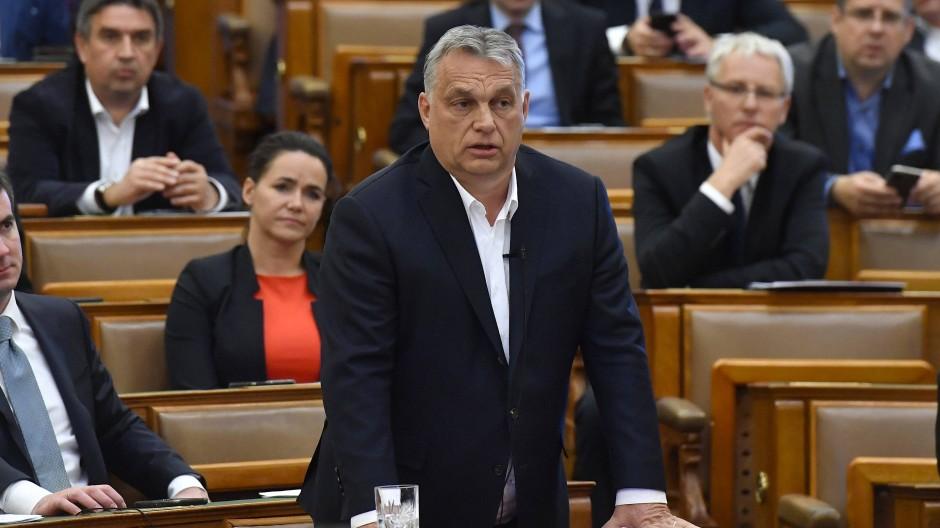 Viktor Orbán im März in Budapest
