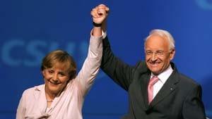 Stoiber und SPD zweifeln an Merkels Richtlinienkompetenz