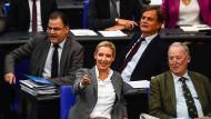 In der ersten Reihe: Die AfD-Fraktionsführer im Bundestag, Alice-Weidel und Alexander Gauland