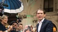 Trotz Wahlsieg rechnet er mit seiner Abwahl im Parlament: Österreichs Bundeskanzler Sebastian Kurz (ÖVP)