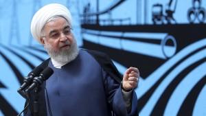 Rohani stellt Bedingung für Treffen mit Trump