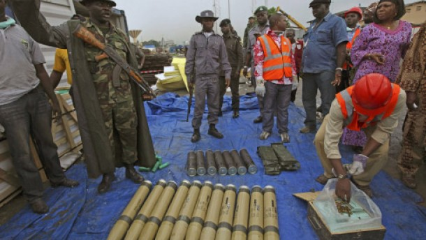 Nigeria droht Iran wegen Waffenlieferung