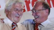 Geredet, geschwitzt und gelacht: Frank-Walter Steinmeier und Franz Maget