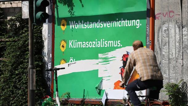 Grüne wehren sich gegen Plakate