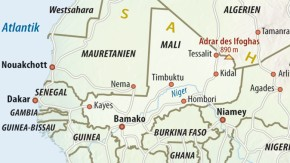 Karte / Mali / Adrar des Ifoghas