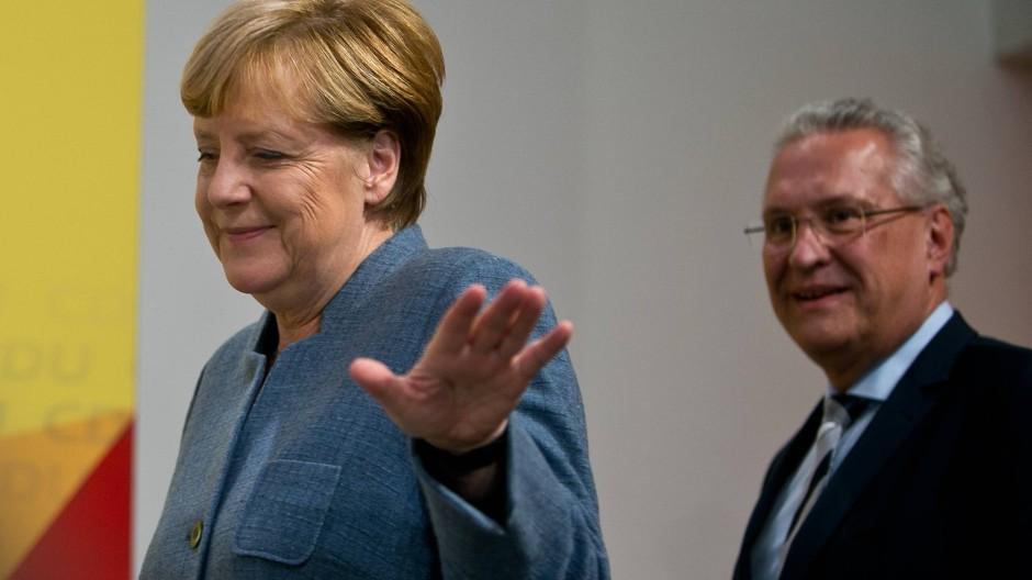 Bundeskanzlerin Angela Merkel am 24. September 2017 im Konrad-Adenauer-Haus, der Parteizentrale der CDU