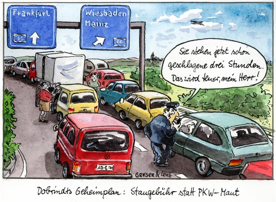 Karikatur Greser Und Lenz Dobrindts Geheimplan Witze F R Deutschland Faz