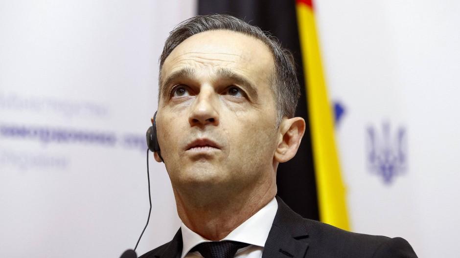 Bundesaußenminister Heiko Maas (SPD) äußert sich nach einem Treffen mit dem Außenminister der Ukraine Pristaiko.