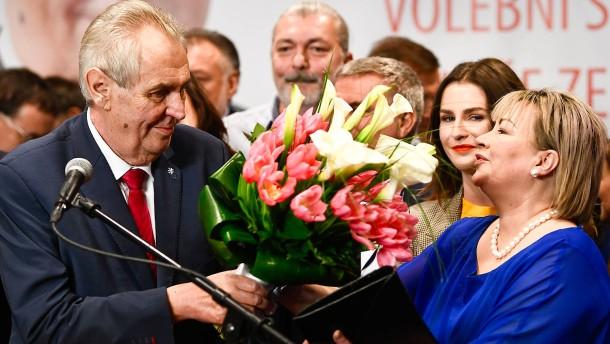 Zeman gewinnt Präsidentenwahl in Tschechien